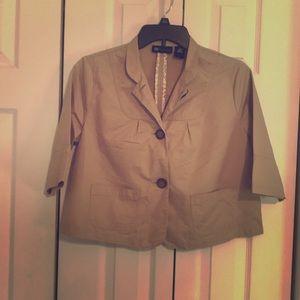 Tan crop jacket